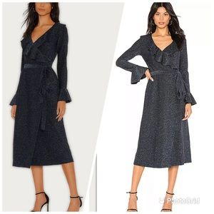 NEW Free People One More Time Lurex Wrap DressXS